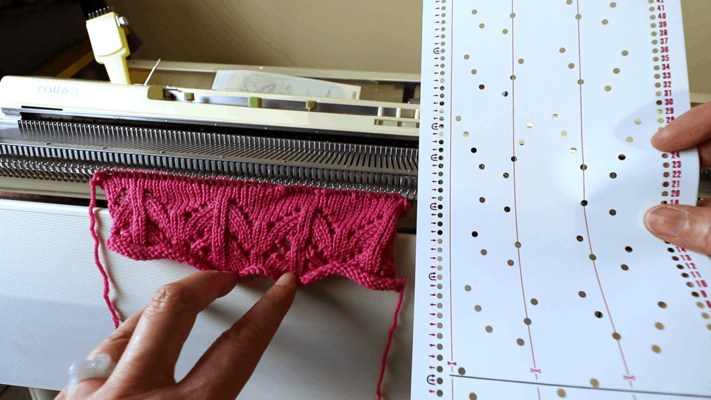 How to knit a lace pattern with a punchcard on a Brother ...